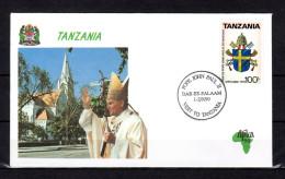 1990 : PAPE JEAN PAUL II  EN TANZANIE Pope John Paul II Jonas Paulius II Papa Giovanni Paolo II Joao Paulo II - Papes