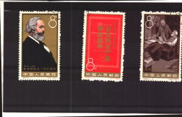 China Chine Cina PRC 1963    Karl Marx       Full Set    Used Stamps    SEE SCAN - 1949 - ... People's Republic