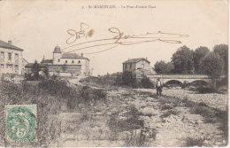 """1907  Saint Marcellin """" Le Pont D'outre L'Eau """"   ( Vers Nixéville  ) - France"""