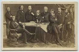 CDV E. Appert. Gouvernement De La Défense Nationale. 1870-71. Photomontage. Gambetta, Thiers, Ferry, Etc. - Photos
