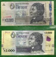 URUGUAY 2003 Y 2015 -Serie A Y B Valor Facial $ 2000.00 - Uruguay