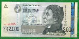 URUGUAY 2003  -Serie A Valor Facial $ 2000.00 - Uruguay