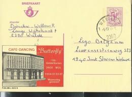 Publibel Obl. N° 2646 ( Café-Dancing: BUTTERFLY  à Mol) Obl: Weelde 09/11/1977 - Publibels