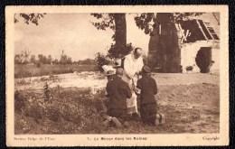 Service Militaire En 1918 - Secteur Belge De L'Yser - LA MESSE DANS LES RUINES - Sent To England - Guerre 1914-18