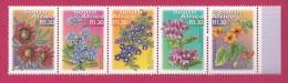 SOUTH AFRICA, 2000, MNH Strip , Definitives Flowesr (R 1,30),  Sa 1304-1308, #9081 - South Africa (1961-...)