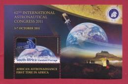 SOUTH AFRICA, 2011, Mint Never Hinged Block , Miniature  Sheet, Astronautical Congress,  Sa 2210, #9028 - South Africa (1961-...)