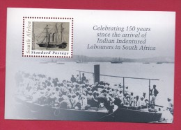 SOUTH AFRICA, 2011, Mint Never Hinged Block , Miniature  Sheet, Arrival Indian Labourers,  Sa 2213, #9029 - Unused Stamps