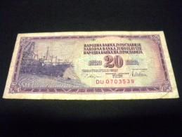 YOUGOSLAVIE 20  Dinara  1978, Pick N° 88 A, YUGOSLAVIA - Jugoslawien