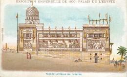 PARIS - Exposition Universelle De 1900,Palais D'Égypte (pub Au Dos De La Carte Feuillet). - Expositions