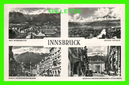 INNSBRUCK, AUTRICHE - 4 MULTIVUES - KTV - MID NORDKETTE, GEGEN SUDEN, MARIA THERESIENSTRASSE, HERZOG FRIEDRICHSTRASSE - - Innsbruck