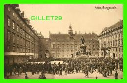 WIEN, AUTRICHE - VIENNE - BURGMUSIK - ANIMATED  - KUPFERDRUCK-KUNSTLERKARTE, 1910  - - Vienne