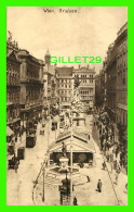 WIEN, AUTRICHE - VIENNE - GRABEN - ANIMATED - KUPFERDRUCK-KUNSTLERKARTE, 1909  - - Vienne