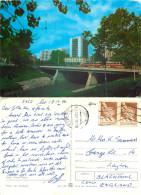 Podul Rosu Tram, Iasi, Romania Postcard Posted 1990 Stamp - Romania