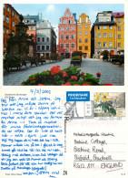 Stockholm, Sweden Postcard Posted 2002 Stamp - Suède