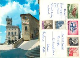 Bar Restaurant, San Marino Postcard Posted 1962 Stamp - San Marino