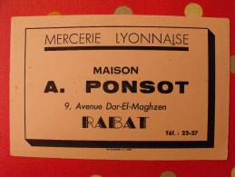 Buvard Mercerie Lyonnaise Maison A. Ponsot Rabat Maroc. Vers 1950 - Textile & Clothing