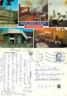 Volgograd Hotel, Karlovy Vary, Czech Republic Postcard Posted 1991 Stamp - Tchéquie