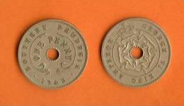 RHODESIA 1940-1942 1 Penny Copper Nickel KM8, C954 - Rhodesië