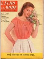 L'écho De La Mode N°29 Du 21/07/1957 - Faites Vous Un Chemisier Drapé - Hector Malot - - Lifestyle & Mode
