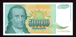 Replacement. Jugoslavia 500000 Dinara ZA 1993. AUNC!!!! - Jugoslawien