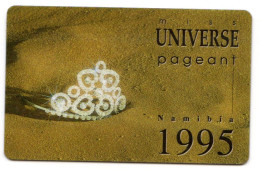 NAMIBIE REF MV CARDS NMB-22 MISS UNIVERS 1995 - Namibie