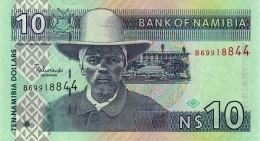 NAMIBIA 10 DOLLARS ND (2009) P-4c UNC WITHOUT 10 IN UV [NA204b] - Namibia