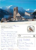 Church, Mustair, GR Graubünden, Switzerland Postcard Posted 2010 Stamp - GR Grisons
