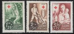 Finland, Scott # B65-7 Unused No Gum Mason, Farmer, Mother And Child, 1945 - Finland
