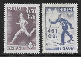 Finland, Scott # B71-2 Unused No Gum Sports, 1945 - Finland