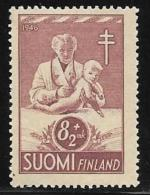 Finland, Scott # B79 Mint Hinged Tuberculosis Prevention, 1946 - Finland