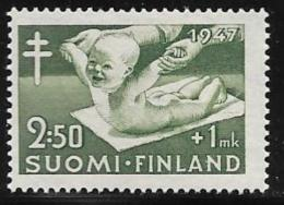 Finland, Scott # B82 Mint Hinged Tuberculosis Prevention, 1947 - Finland