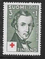 Finland, Scott # B87 Mint Hinged Topelius, 1948 - Finland