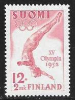 Finland, Scott # B110 Mint Hinged Olympic Diver, 1951 - Finland