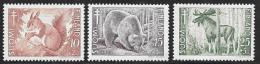 Finland, Scott # B120-2 Mint Hinged Animals, 1953 - Finland