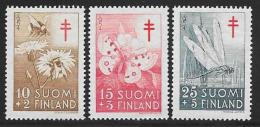 Finland, Scott # B126-8 Mint Hinged Insects, 1954 - Finland