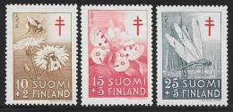 Finland, Scott # B126-8 MNH Insects, 1954 - Finland