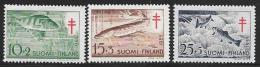Finland, Scott # B129-31 Mint Hinged Fish, 1955 - Finland