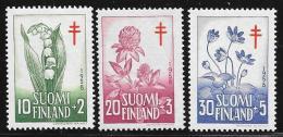 Finland, Scott # B148-50 Mint Hinged Flowers, 1958 - Finland