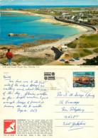 #3, Cobo And Grande Rocque Bays, Guernsey John Hinde Postcard Posted 1982 Stamp - Guernsey