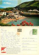 Harbour, Port Isaac, Cornwall, England John Hinde Postcard Posted 1980 Stamp - England