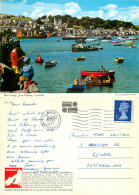 River Fowey From Polruan, Cornwall, England John Hinde Postcard Posted 1972 Stamp - Autres