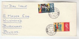 1965 Burnham Cds GB FDC SALVATION ARMY Stamps Cover - FDC