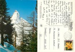 Matterhorn, Zermatt, VS Valais, Switzerland Postcard Posted 2005 Stamp - VS Valais