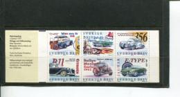 (100 Stamps - 26-08-2016) Sweden Car Racing Booklet + 3 Cinderalla - Autos