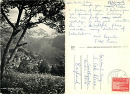 Breithorn, Wengen, BE Bern, Switzerland RP Postcard Posted 1962 Stamp - BE Berne