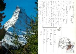 Matterhorn, VS Valais, Switzerland Postcard Posted 2011 Stamp - VS Valais