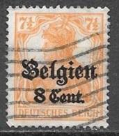 1916 German Occupation 8c On 7-1/2pf, Used - WW I