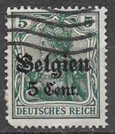 1914 German Occupation 5c On 5pf, Used - WW I