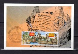 """RF MAYOTTE 2002 : Carte Maximum """" SEL DE BANDRELE """". N° YT 130. Parfait état. CM - 2000-09"""
