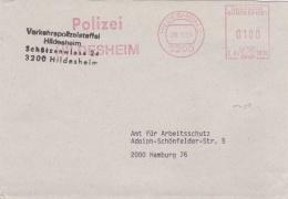 Germany Cover P/m Hildesheim 1993 Verkehrspolizeistaffel Hildesheim - Machine Cancel (SKO10-48) - Policia – Guardia Civil
